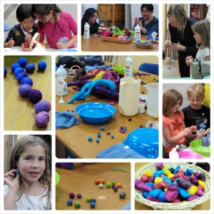 felted ball workshop